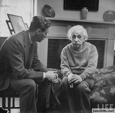 This photo really gets to me: Einstein and his therapist. It�s something about the sadness in his eyes.