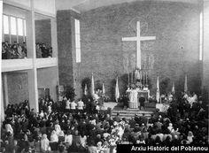 St. Bernat Calvó 1957 Inauguració pel bisbe Modrego de l'església de St. Bernat Calbó