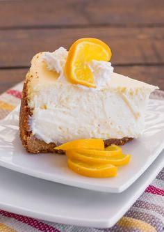 Meyer Lemon Cheesecake – luscious, creamy and refreshing. The perfect cheesecake! Meyer Lemon Recipes, Lemon Cheesecake Recipes, Lemon Desserts, Just Desserts, Dessert Recipes, Citrus Recipes, Fruit Recipes, Pie Recipes, Dessert Ideas