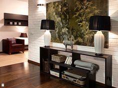 Liście bambusa w stylu grunge - nowoczesny obraz na płótnie - zdjęcie od VAKU-DSGN - Hol / Przedpokój - Styl Tradycyjny - VAKU-DSGN