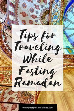 If you're fasting Ramadan while traveling, be sure to check out this guide before you plan your travels! I've done it several times and  have plenty of suggestions on how to make your travels enjoyable without having a hangry breakdown. CLICK to read my tips for traveling while fasting Ramadan.  #Ramadan #MuslimTravel #Fasting #TravelingWhileFasting #TravelingDuringRamadan #Muslims
