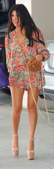 Summery romper and heels. Can I please be her?