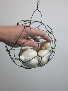 chicken wire basket garlic - Google Search