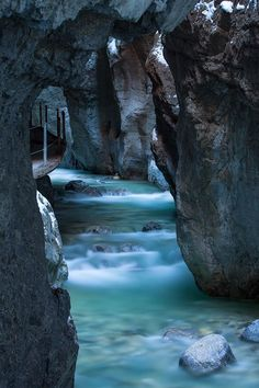 Gorge, Walkway..... Garmisch- Partenkirchen, Germany by Marco Schoefl #turquoise #water #nature