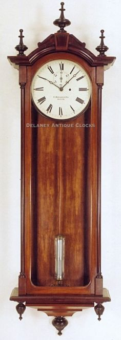 E. Howard & Co. Model No. 71 Regulator. A large weight driven wall clock. (Being offered at a new price.)