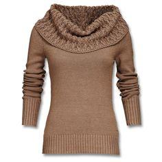 Feinstrickpullover aus softem Baumwollmix mit großem Hingucker-Kragen in aufwendigem Muster. - im Mexx Online Shop Deutschland