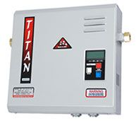 The Titan Tankless is the modern way to heat water. A Titan tankless will provide you with ENDLESS hot water so if you have 4 guests in your home and each showers one after the other they will all get the same endless hot water. As the unit only operates when you activate your hot water you can save up to 60% on your hot water energy. The unit is about the 80 times smaller than a standard tank so you will save a ton of space and money!