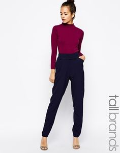 Girls On Film Tall Bow Detailed Tailored Trouser