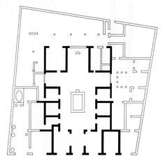 A House of Sallust, Plan, Pompeii, 100 B.C.