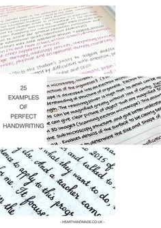 Click through to see 25 AMAZING examples of PERFECT handwriting! Collage