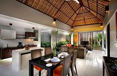 Tropical interior decor architecture: exotic international i Modern Tropical House, Tropical House Design, Tropical Kitchen, Tropical Interior, Tropical Houses, Balinese Interior, Modern Interior, Interior Design, Bungalow