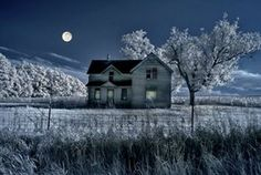 Photo about Haunted farmhouse under a full moon in infrared with grunge texture added. Image of haunted, darkness, grunge - 3161317 Grunge, Dream Meanings, Inside Outside, Old Farm Houses, White Farmhouse, Texture, Curb Appeal, Photo Art, Old Things