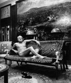 Gianni Versace, Lake Como, Italy [1994 Helmut Newton].