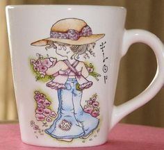 pintura-porcelana - un cielo con dos soles Cerámica Ideas, Holly Hobbie, Teapots And Cups, Painted Wine Glasses, Arabesque, Drinking Tea, Art For Kids, Tea Pots, Whimsical