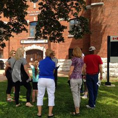 From our second #Oshawa Celebrates #panam downtown walking tour! In front of the Armouries