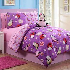 Victoria Classics Lady Bug Reversible Bed Set (Purple)