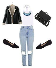 """""""Untitled #160"""" by tavann ❤ liked on Polyvore featuring TIBI, Topshop and Pieces"""