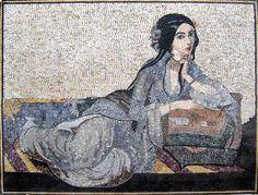 Handmade Mosaic Art -Figurative Mosaic Mural - Geisha Mosaic Designs - Geisha Figurative Art - Mosaic Art | #Mozaico