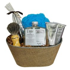 Durance Mens' Pampering Gift Basket l'Ome Products