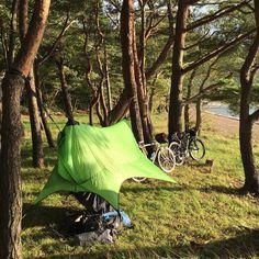 本日の宿。 #sierramadreresearch #nubist4life  #bikepacking  #tkdridecamp2015 ←1日早いけど...
