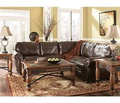 2 Ways and 10 Tips to Style That Big Brown Sectional | Brown sectional Big brown and Kitchen essentials : ffo sectionals - Sectionals, Sofas & Couches
