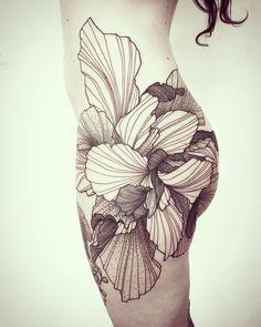Done Icône Body Art ! More Projects Like This Please! Badass Tattoos, Sexy Tattoos, Body Art Tattoos, Sleeve Tattoos, Tattoos For Women, Pretty Tattoos, Beautiful Tattoos, Full Tattoo, Wildflower Tattoo