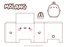 It's Fridiy Ans Today We Offer You A Pa Molang - maallure Anime Crafts, 3d Paper Crafts, Paper Toys, Instruções Origami, Origami Templates, Paper Doll Template, Kpop Diy, Printable Scrapbook Paper, Molang
