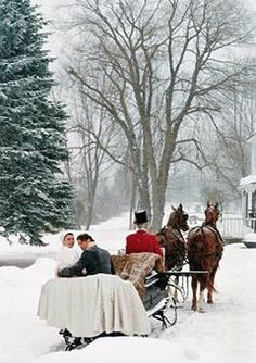 Sleigh Ride - wouldn't this be amazing through the vineyard for a winter wedding! www.casalarga.com/weddings