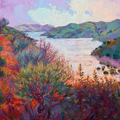 Paso Robles wine country oil painting landscape artwork by Erin Hanson