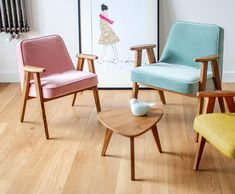 Midcentury-style armchairs by 366 at Monoqi.