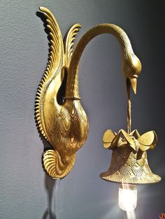 "French Art Deco Sconces @ NEW YORK CITY  Armand Albert Rateau (1882-1938). 'Col de Cygne' sconces, ca 1920 H14½"" x 5½"" wide x 8 5/8""deep  -   --   -  ""I will play the swan, and die in music' - Othello, William Shakespeare"