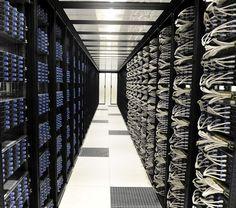 Set of server racks in the Iliad datacenter near Paris, France. The servers are Dell VS11-VX8.
