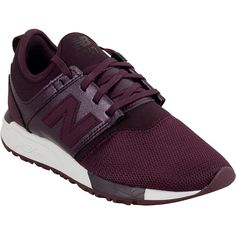 New Balance 247 Classic Women's Athletic Sneaker ($80) ❤ liked on Polyvore featuring shoes, sneakers, burgundy, new balance footwear, new balance trainers, new balance shoes, mesh sneakers and mesh shoes
