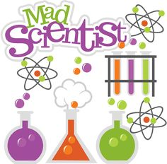 Mad Scientist SVG science svg beaker svg test tubes svg file atom svg file cute clipart science project scrapbooking- I would use this to make something for sam