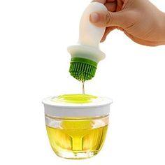 Amazon.com: Silicone Basting Brush Oil Dispenser - 11 Oz / 320 ml - by Utopia Kitchen: Kitchen & Dining