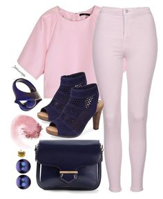 """Navy & Pink"" by jahkun ❤ liked on Polyvore featuring TIBI, Topshop, Tod's, Adam Tucker, Virzi+De Luca, DaVonna, NARS Cosmetics and twocolours"