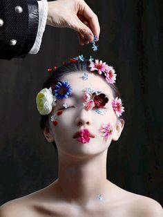 ❀ Flower Maiden Fantasy ❀ beautiful art fashion photography of women and flowers - shu uemura