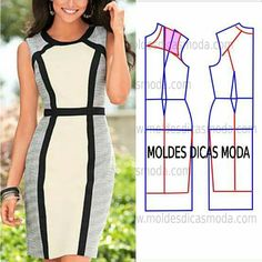 Image may contain: one or more people, people standing and text Diy Clothing, Sewing Clothes, Clothing Patterns, Dress Patterns, Fashion Sewing, Diy Fashion, Ideias Fashion, Costura Fashion, Make Your Own Clothes