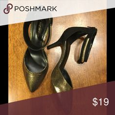 30% off Lane Bryant Metallic Gold Heels SZ 10 EUC. Black and gold with an ankle strap. SZ 10. Same day shipping on purchases made before 2PM PST Lane Bryant Shoes Heels