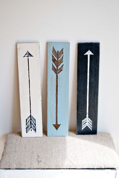 Hand Painted Arrow Sign