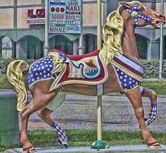 Herschell-Spillman Carousel was built in 1912 and was originally located at the Pavilion Amusement Park in downtown Myrtle Beach.