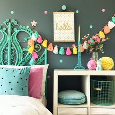 Kids interior and decor blog by www.fourcheekymonkeys.com #interior #kids #bedroom #girlsrooms