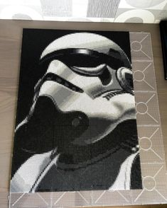 Stormtrooper - Star Wars perler bead art by artbyfredd