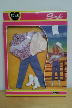 1982 Sindy doll boxed fashion clothes 'Rodeo',ref 44365.Western riding cowgirl 40+3.9
