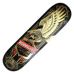 PRIMITIVE Skateboarding Eagle black pro board Paul Rodriguez deck 8.0 pouces…
