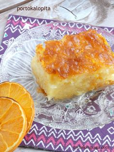 Portokalopita-Greek orange cake with syrup | my baking saga