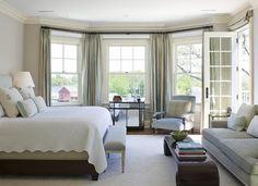 master bedroom. love the sitting area with the comfy couch