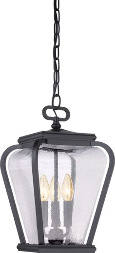 Quoizel PRV1909K Province Traditional Mystic Black Exterior Hanging Pendant Light