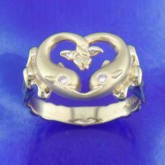 Steven Douglas 14K Dolphin Ring with Diamonds