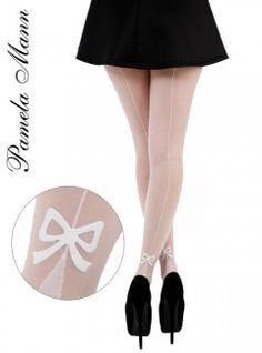 Pamela Mann Bow Seam Ankle Tights - Tights, Stockings, Shapewear and more - MyTights.com - The Online Hosiery Store
